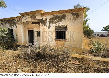 Remains Of Abandoned Buildings Of The Gold Mines Of Rodalquilar Village In Almeria Province, Andalus