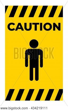 Prohibit People Allowed,do Not Enter,no Man Entry Sign Isolate On White Background,vector Illustrati