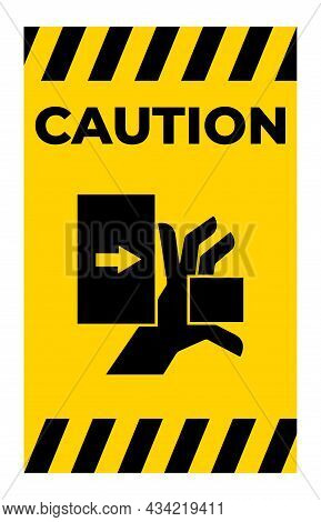 Hand Crush Force From Left Symbol Sign Isolate On White Background,vector Illustration