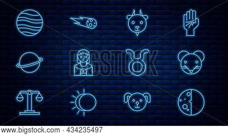 Set Line Eclipse Of The Sun, Rat Zodiac, Aries, Astrology Woman, Planet Saturn, Jupiter, Taurus And