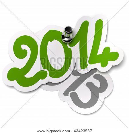 2014 Versus 2013 Years. Stickers