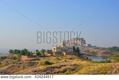 View Of Jaswant Thada In Jodhpur, India