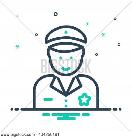 Mix Icon For Police The-law Force Guard Secure Enforcer Policeman Cop Protect Security Safety