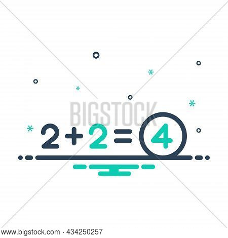 Mix Icon For Total Number Equal Sum Addition Add Adding Entire Thorough Overall Exhaustive All