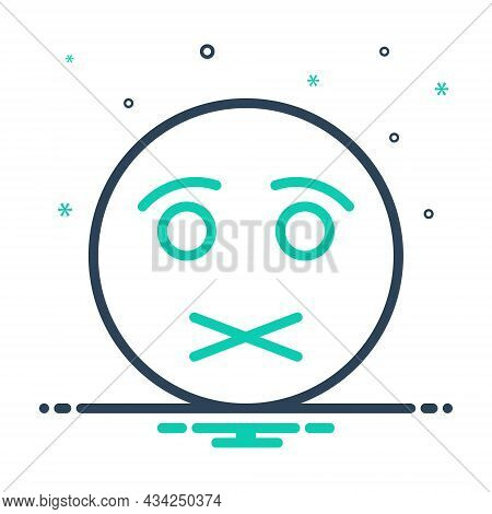Mix Icon For Shut Lockfast High-necked Quiet Secret Silence Hush Keep-quiet Restriction Mouth