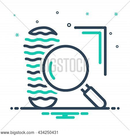 Mix Icon For Clue Proof Confirmation Mystery Footprint Suspect Evidence Investigate Testimony Vindic