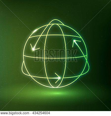 Globe icon environmental conservation symbol