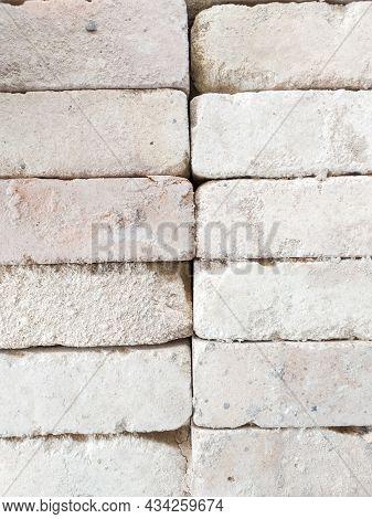Old Brick Texture Or Brick Background. Brick Wall Surface Top View. Vintage Brick. Natural Bricks. F