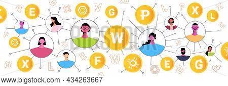 People Sending And Receiving Digital Coins Mining Virtual Money Cryptocurrency Exchange Banking Tran