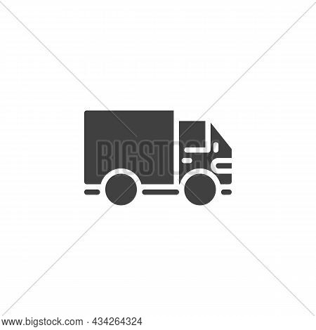 Lorry, Shipping Truck Vector Icon. Filled Flat Sign For Mobile Concept And Web Design. Delivery Truc