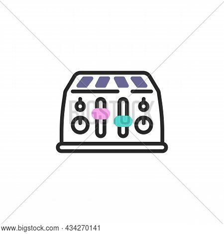 Toaster Line Icon. Linear Style Sign For Mobile Concept And Web Design. Toaster Outline Vector Icon.