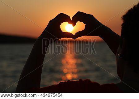 Beautiful Summer Sunset At Sea In Croatia