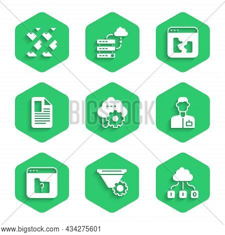 Set Cloud Technology Data Transfer, Filter Setting, Analyst Engineer, File Missing, Document, Broken
