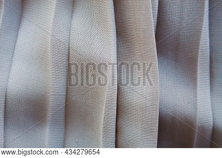 Pleated Skirt Fabric Texture Background Close Up