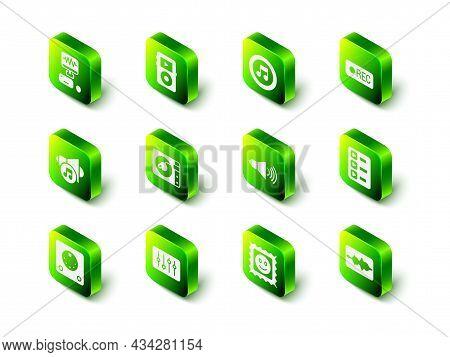 Set Music Player, Note, Tone, Record Button, Playlist, Wave Equalizer, Speaker Volume, Lsd Acid Mark