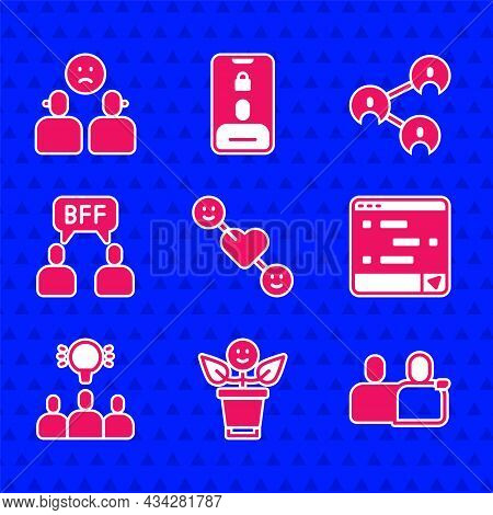 Set Romantic Relationship, Bff Or Best Friends Forever, Chat Messages Laptop, Project Team Base, And