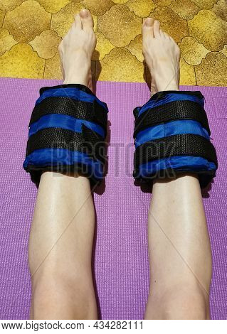 Sandbags With Adjustable Weight For Exercising The Muscles Of The Legs And Arms. Super Training For