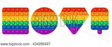 Fidget Sensory Toy. Kids Bright Pop It Game, Keep Hands Busy For Fidget, Trendy Tactile Antistress T