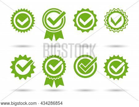 Approved Tick Stamps. Approvals Green Seals, Endorse Stamp Ticks, License Quality Approbation Guaran