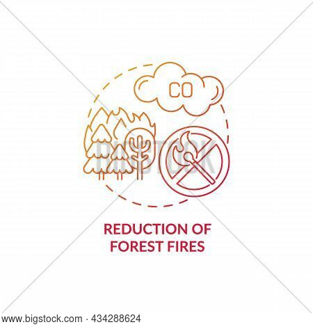 Forest Fires Reduction Concept Icon. Common Initiative Abstract Idea Thin Line Illustration. Biomass