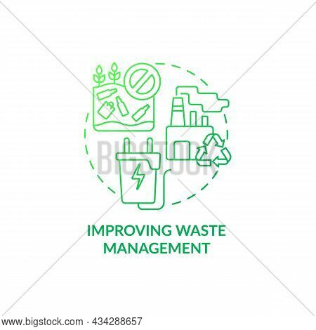 Improving Waste Management Concept Icon. Reducing Air Pollution Abstract Idea Thin Line Illustration