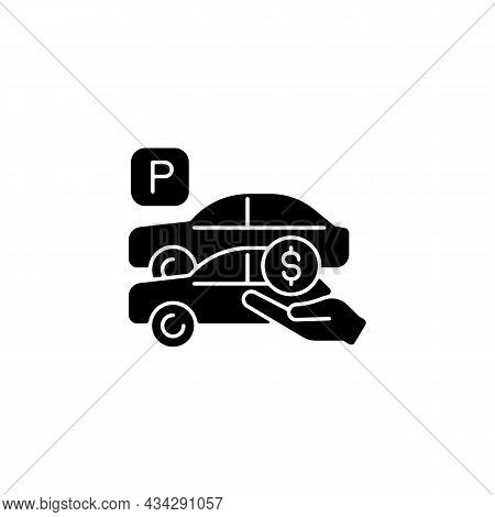 Free Parking Spots Black Glyph Icon. Provide Parking For Employees. Reward For Workers. Access To Co