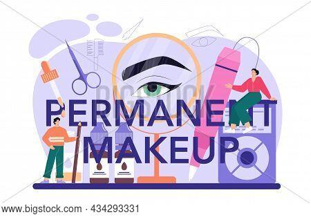 Permanent Make-up Typographic Header. Eyebrow Master Tattooing