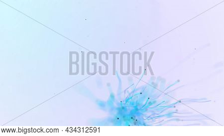 Abstract Aqua Particle Background,  Floating Blue Particles In Background