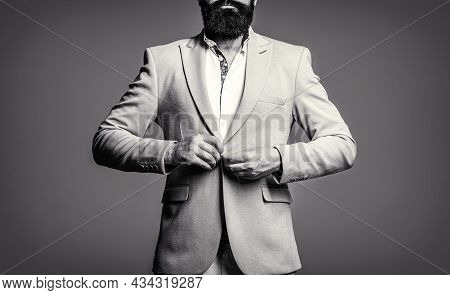 Man In Suit. Male Beard And Mustache. Elegant Man In Business Suit. Sexy Male, Brutal Macho, Hipster