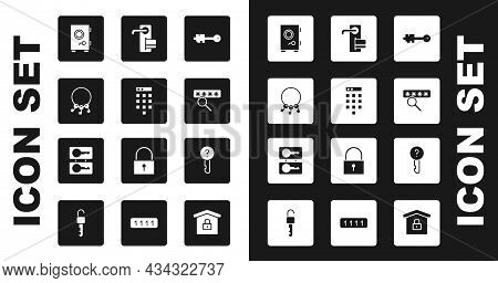 Set Old Key, Password Protection, Bunch Of Keys, Safe, Digital Door Lock, Undefined And Casting Icon