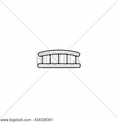 Bridge Vector Thin Line Icon. Bridge Hand Drawn Thin Line Icon.