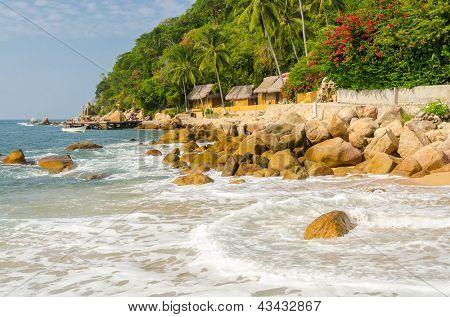 Tropical resort in Yelapa, Puerto Vallarta, Mexico.
