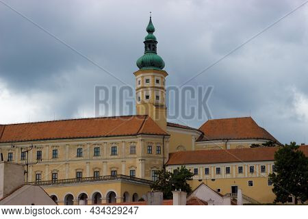 View Of Mikulov Castle In The Czech Republic.