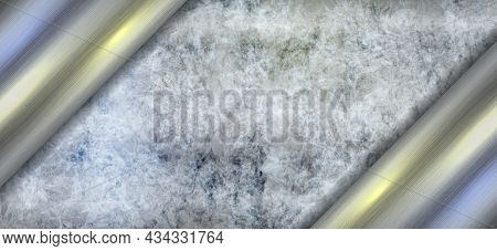 Silver Metal Background. Gray Brushed Stainless Steel Vector Pattern For Banner, Presentation. Iron