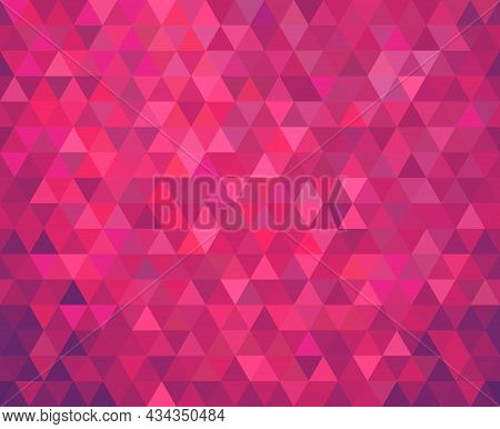 Triangles Seamless Geometric Background, Abstract Pattern. Vector