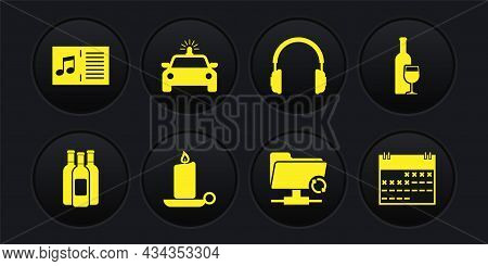 Set Bottles Of Wine, Wine Bottle With Glass, Burning Candle Candlestick, Ftp Sync Refresh, Headphone