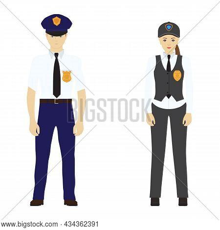Police Man And Police Woman. Police. Police Officers. Police Uniform.