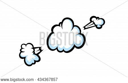Comic Boom Smoke Effect. Puff And Burst Clouds For Surprising And Explosive Events. Vector Illustart