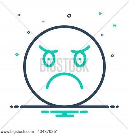 Mix Icon For Angry Ireful Splenetic Grumpy Indignant Resentful Frenzied Furious Irate Mood