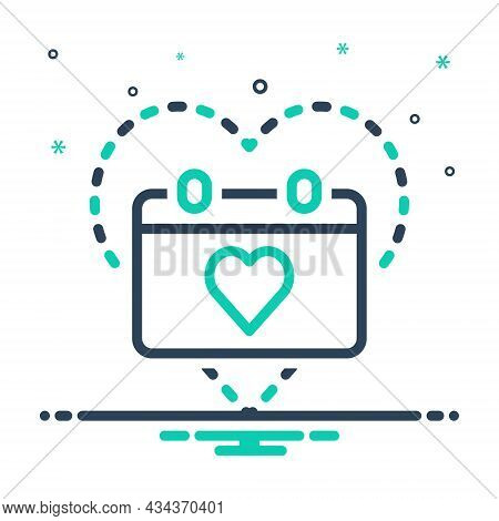 Mix Icon For Anniversary Commemoration Jubilee Ceremony Festival Gift Love