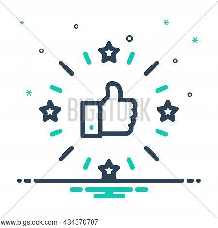 Mix Icon For Excellent Admirable First-class Valuation Favorite Feedback Review Like Satisfaction Ch