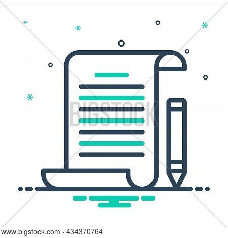 Mix Icon For Assignment Task Piece-of-work Homework Education Document Notebook Text Paper
