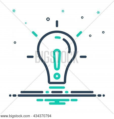Mix Icon For Except Lightbulb Concept Creativity Object Exclude Denigration
