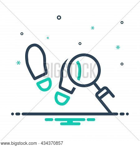 Mix Icon For Trace Footprint Indication Hint Imprint Soles Shoes Search Find-the-source-of Find Disc