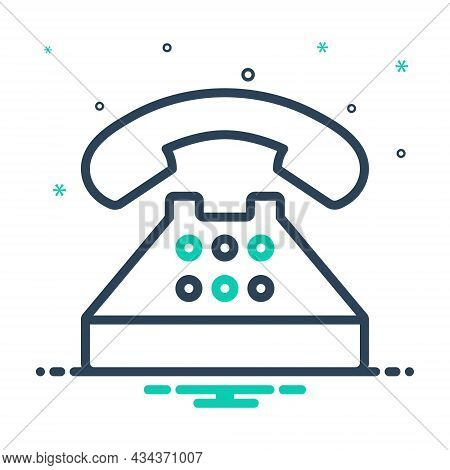 Mix Icon For Typical Regular Generally Common Usually Phone Telephone Contact Call Communication