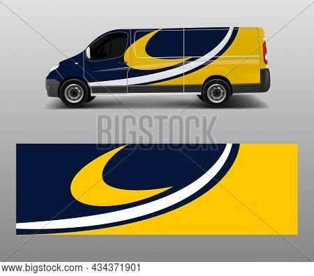 Graphic Abstract Racing Designs For Vehicle Sticker Vinyl Wrap. Car Decal Vector