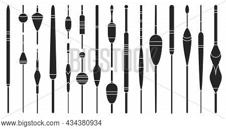 Floats Vector Black Icon. Isolated Black Set Icon Bobber For Fishing.vector Illustration Floats On W