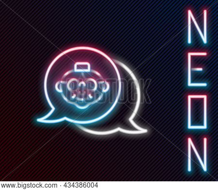 Glowing Neon Line Grandmother Icon Isolated On Black Background. Colorful Outline Concept. Vector