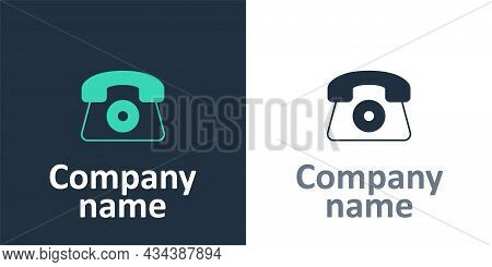 Logotype Telephone 24 Hours Support Icon Isolated On White Background. All-day Customer Support Call