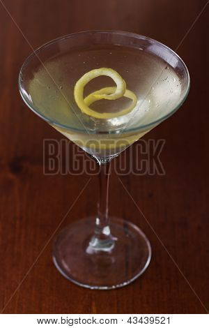 Dirty Martini With A Lemon Twist